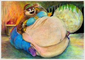 Fat Teen Tiny Kong from Donkey Kong in Moonlight by SSsilver-c