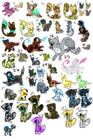 Unsold Adoptables 37/46 open by CatFeed