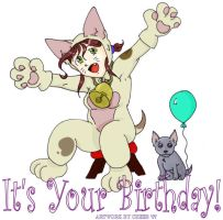 It's Your Birthday Card Front by cheeb