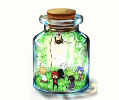 Boy's Band in... the Bottle ! by HimeChie