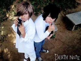Death Note - L and Near by therealcarlosliao