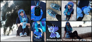 (MLP) Princess Luna Themed OOTD by KrazyKari