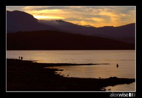 Fly Fishing to the sunset by alexwise