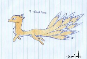 Chibbi 9 Tailed Fox by Cynder18