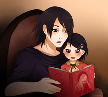 Sasuke and Sarada by Wosda