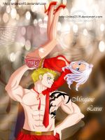 Mirajane and Laxus Dancing with the star!Collab by nina2119