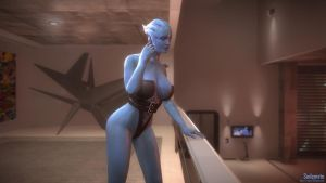Mass Effect 3: Asari in Anderson's apts. [Bodice] by worldfeel