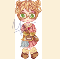 Forest Bookworm Cub Adoptable [open] by yui-tohma