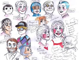 Townspeople of Awesome (as people) by Lillooler