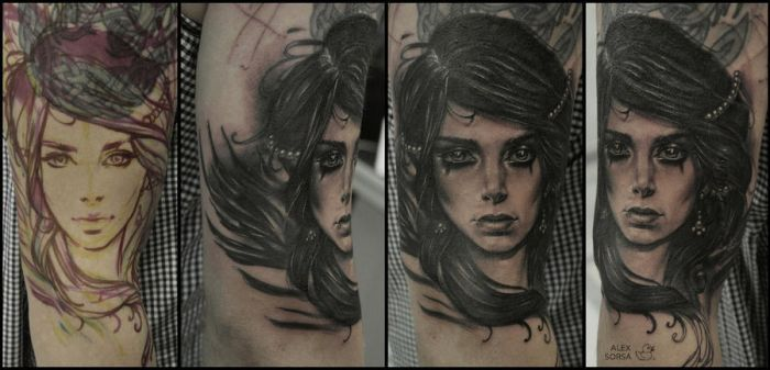 freehand tattoo by AlexSorsa