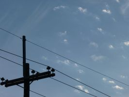 Clear Skys and Wires by LW-Lucy