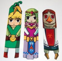 The Legend of Zelda Link Zelda and Medli Bookmarks by knil-maloon