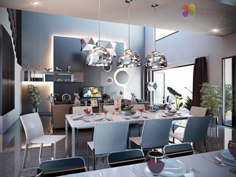 LIVING, DINING AND PANTRY by TANKQ77