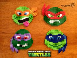 New 2012 TMNT Perler Beads !!! by RockerDragonfly