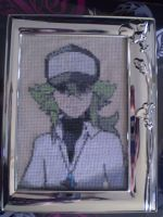 Pokemon Black and White N Cross Stitch by ChandrakantaAvani