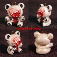 Ghoul Bear Charm ooak by Undead-Art