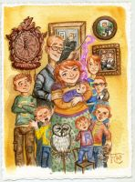 Weasley Family Portrait by feliciacano