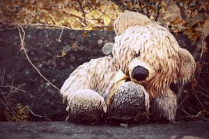 Sad Teddy Bear by WorldII