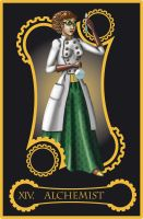 Steampunk tarot of Temperance by flamarahalvorsen