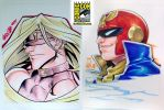 SDCC 03 - Zato-1 and Captain Falcon by theCHAMBA
