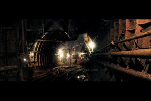 Matte painting - Tunnel by HPashkov