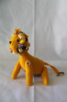 Button Jointed Plush Lion by geekygamergirl