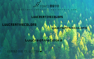 Fonts Cuadradas by LuuCreativeColors