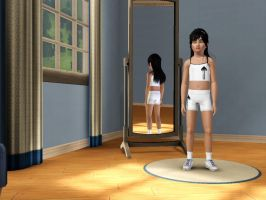 Sims 3 - Me in child form in athletic outfit 2 by Magic-Kristina-KW