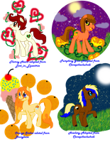 My Adopted Ponies Earth Types 3 by Sarahostervig