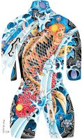 Tattoo Body Suit Poster 003 by azmousejockey