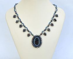 Small necklace with pietersite N806 by Fleur-de-Irk