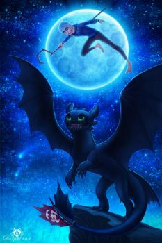 Jack and Toothless by DolphyDolphiana