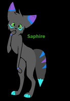 Saphire anthro wolf by PintoFire