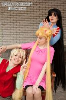 Minako, Usagi and Rei by Vaishravana