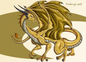 Golden Dragon by Ember-Eyes