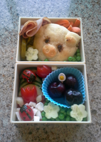 Ham Sandwich Bento by TakenFlyght