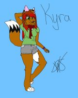 Kyra-New Fursona (w/o wings) by AnimeWarrior8