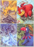 Pokemon Fusions by AtlanticaSora
