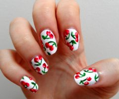 Cherry nails by MissKellyLouise