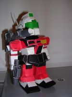 Canon Gundam Papercraft by Tiffyx