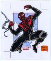 Miles Morales AP sketch card by mdavidct