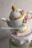 tea pot cake by zoesfancycakes