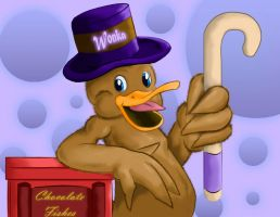 Willy Wonka Duck by TheMoonMonkey