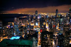 Chicago At Night by Zeal-GJP