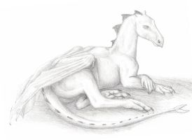 Lounging Dragon by bronze-dragonrider