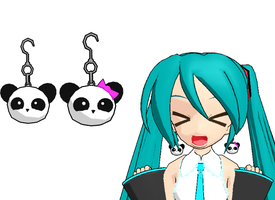 mmd-PANDA EARRINGS :D by Shioku-990