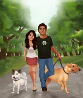 Commish: A Walk with the one I love by fuzzypinkmonster