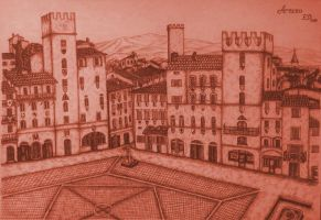 Drawing - City Square_04 by eduaarti