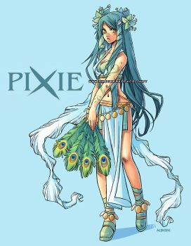 Title page for Pixie -2nd book by auroreblackcat