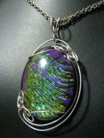 Custom Cabochon in silver wire by BacktoEarthCreations